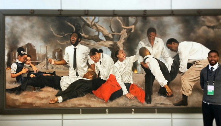 """""""In A Promised Land..."""" painting by Shawn Michael Warren, showing at Devos Place"""