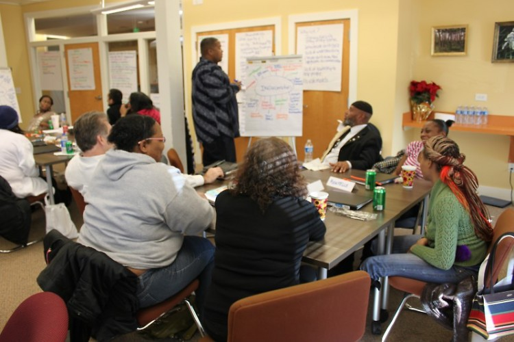Small group discussion during first session of L.A.S.T.
