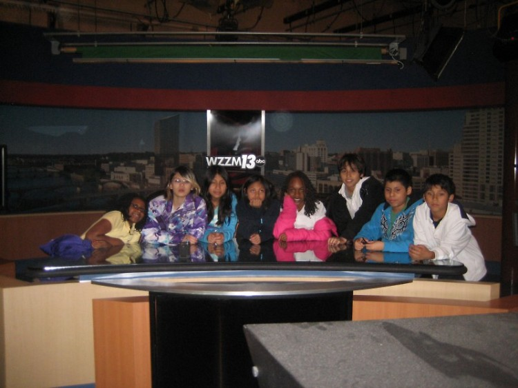 The GAAH Press Club in the WZZM Studio.