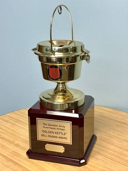"The Golden Kettle will be awarded to the Golden ""K"" Kiwanis Club"