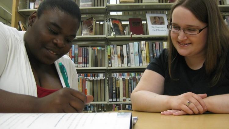 Warren and Tolliver meet at the Van Belkum Library every week.