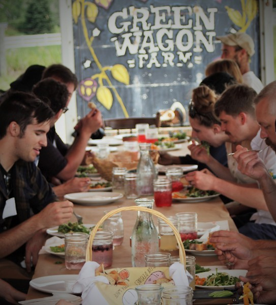 Area Chefs have Lunch at the Farm