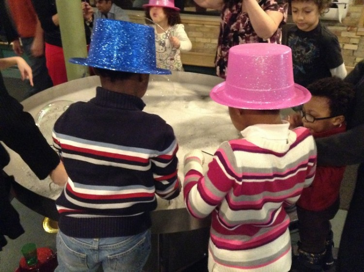 Children celebrating at New Year's Early Eve
