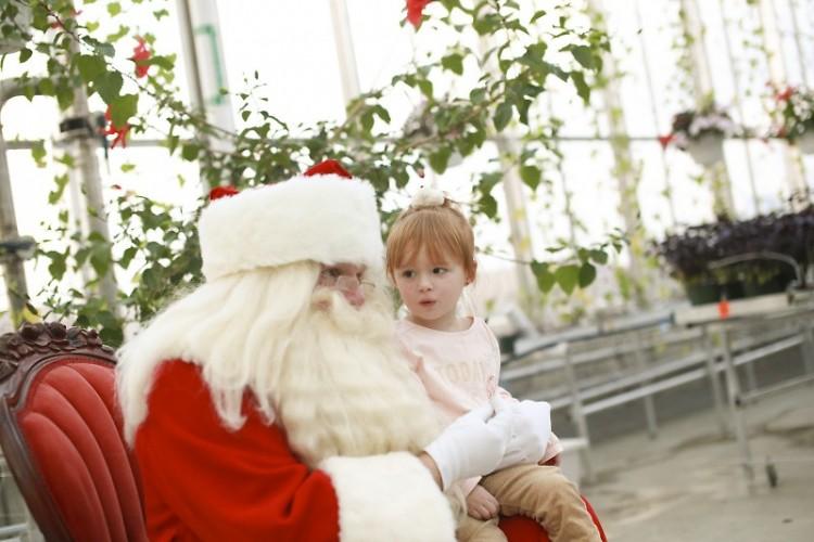 Santa visits the Downtown Market