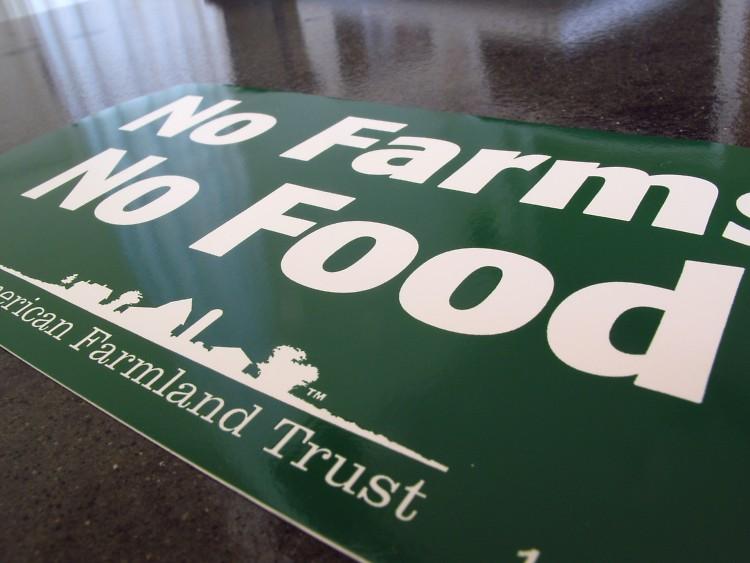 American Farmland Trust bumper sticker, free at the Fulton Street Farmers Market.