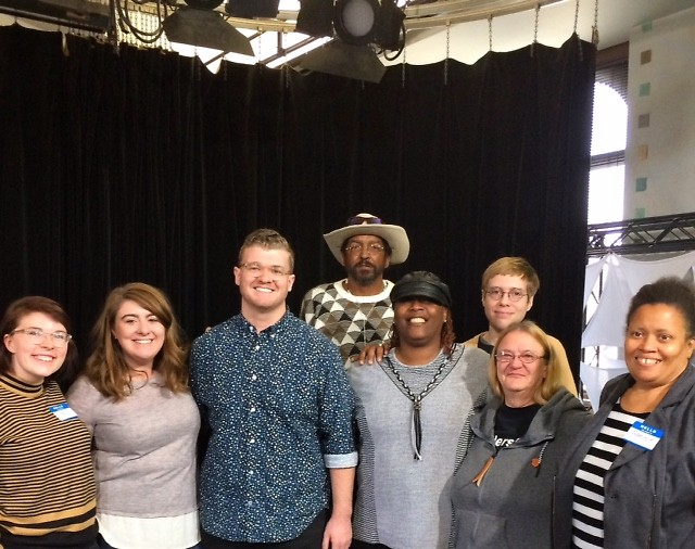 The group from Dwelling Place that participated in the storytelling workshop at GRTV