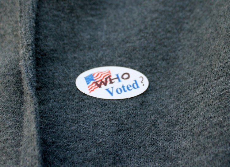 I Voted sticker is rephrased.
