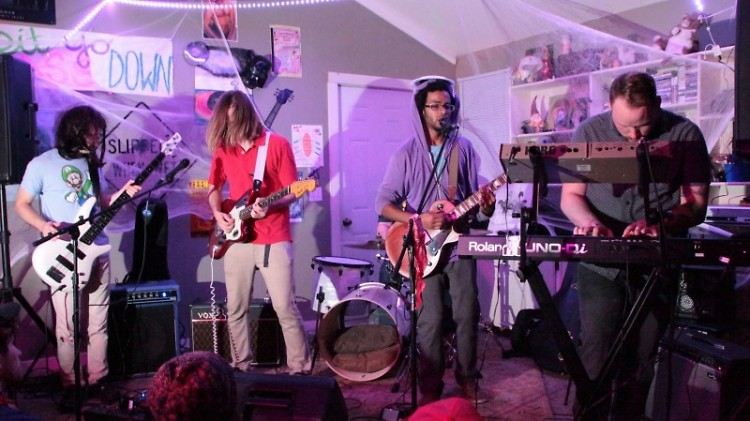 The Landmarks (Ann Arbor) performing at The Compound last year