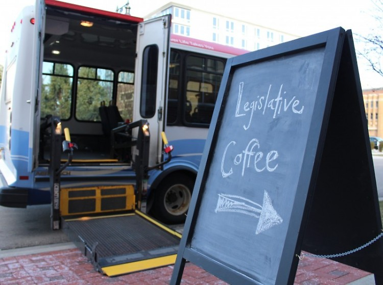 The Rapid Go!Bus helped some attendees get to our legislative coffee event in March.