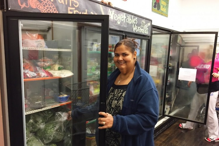 UCOM client Lisette says the pantry helps her prepare healthy meals for her husband and three sons.