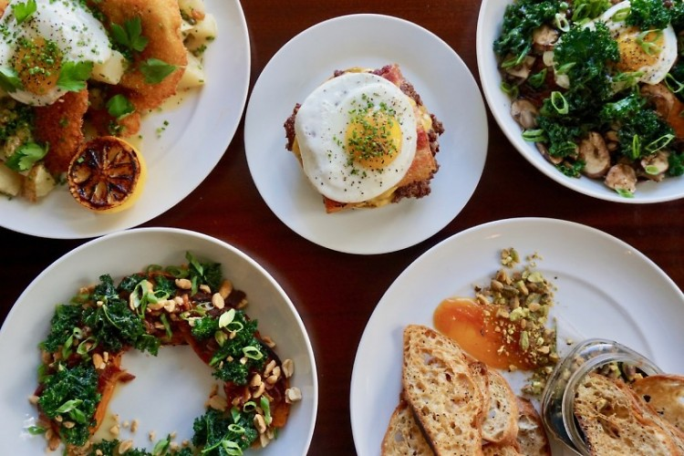 Breakfast dishes at The Littlebird in Downtown Grand Rapids