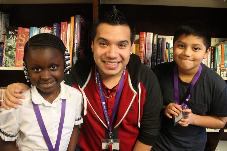 Program Manager Javier Cervantes with students Mary and Dylan