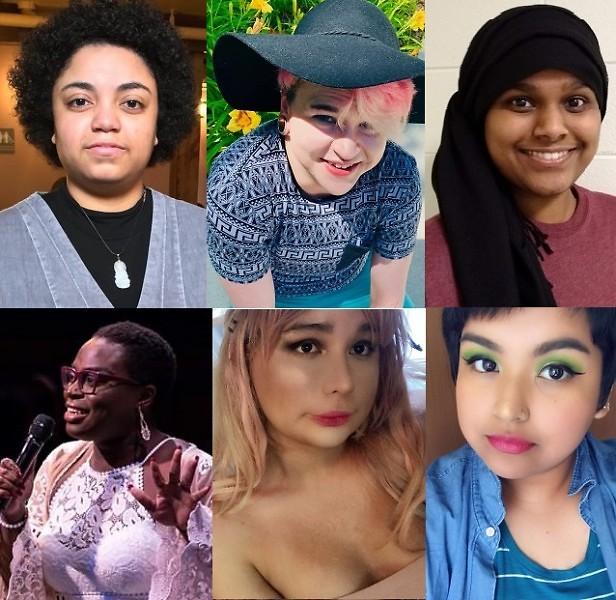 From left to right. Line 1: Alizae, Liam, Khairun. Line 2: Birdie, Ariana, & Kendra.