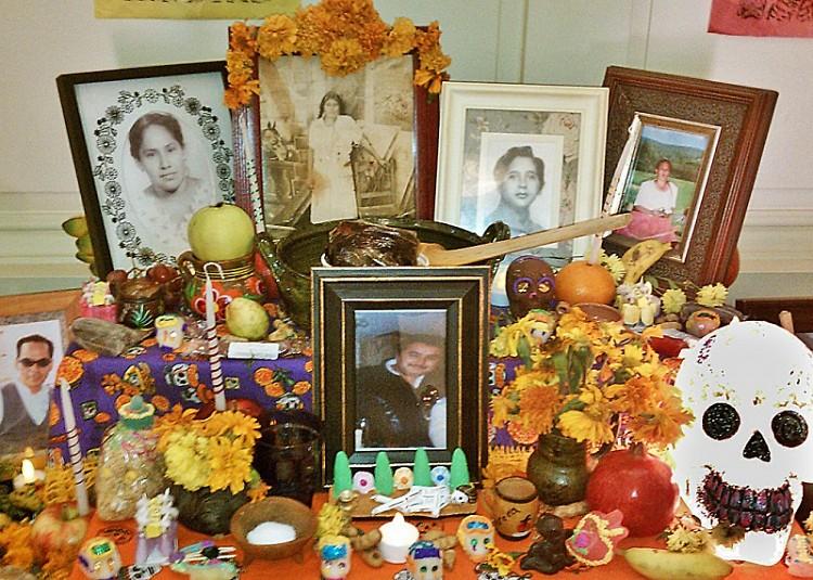 Altar for Dia de Los Muertos, Grand Rapids Public Library