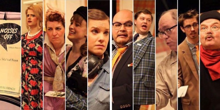 "The cast of ""Noises Off"""