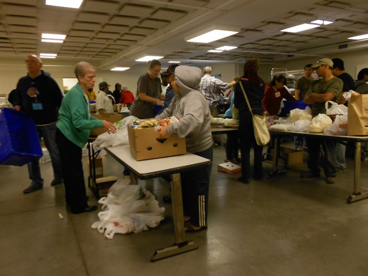 The Eastern Ave CRC food pantry in action
