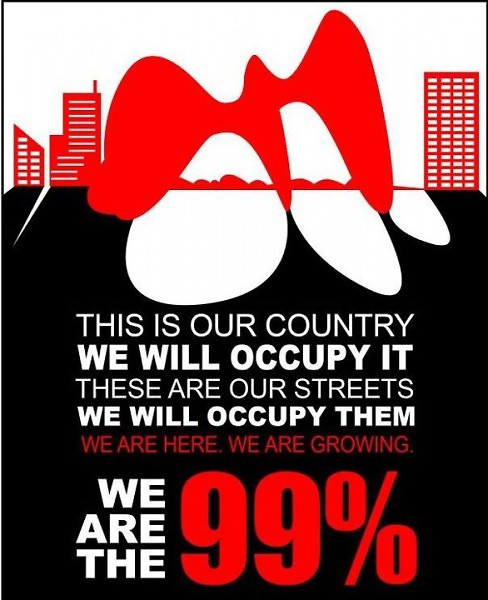 One of the promotional flyers for Occupy Grand Rapids
