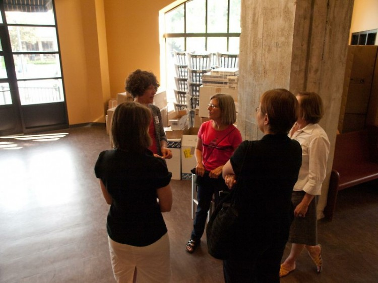 Owner Anja Mast giving a tour of Trillium Haven, a restaurant slated to open July 6.