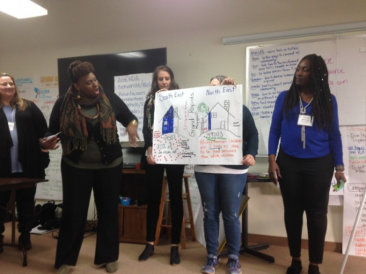 Marisa Luse  of Vital Village Network and Tabitha Williams, Founder of Parents for Healthy Homes leading a training