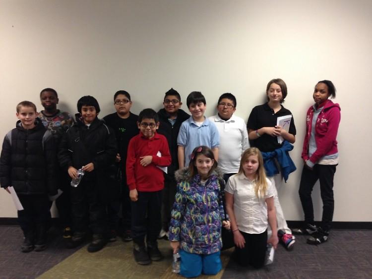 The kids of Harrison Park Media Team.