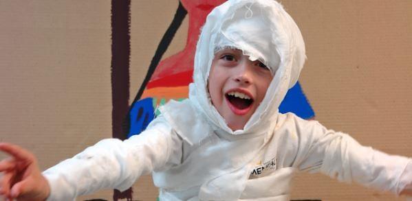 CLC student having fun in costume