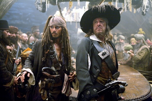 Johnny Depp and Geoffrey Rush star in 'Pirates of the Caribbean: The Curse of the Black Pearl'