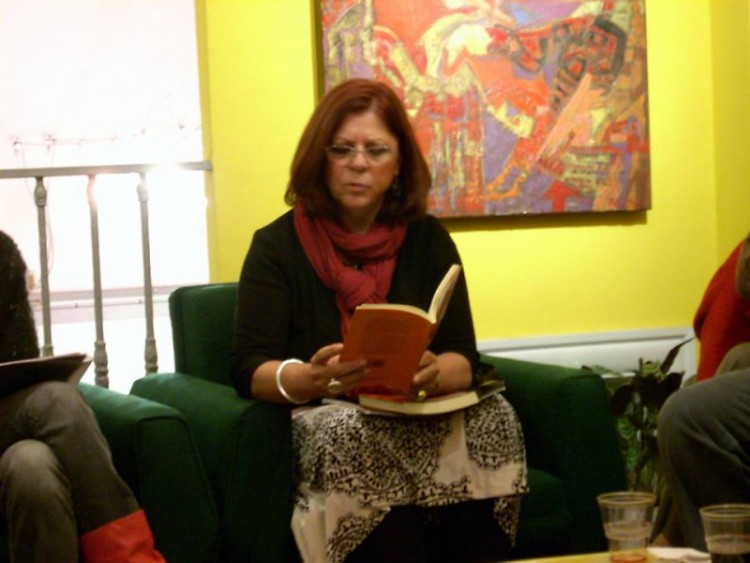 Zulema Moret reads her poetry in Buenos Aires, Argentina.