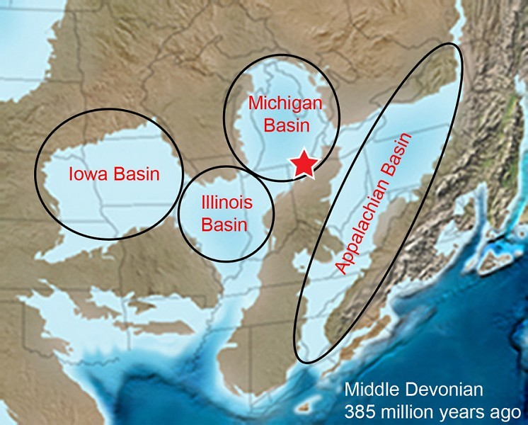 Michigan during the Middle Devonian Period