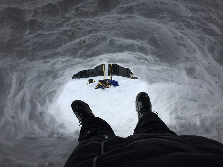 How many times do you get the chance to build – and sleep in – a real snow shelter?