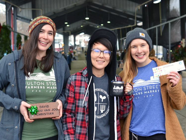 Bricks, gear, gift certificates, and more available at Fulton Street Farmers Market this holiday season.