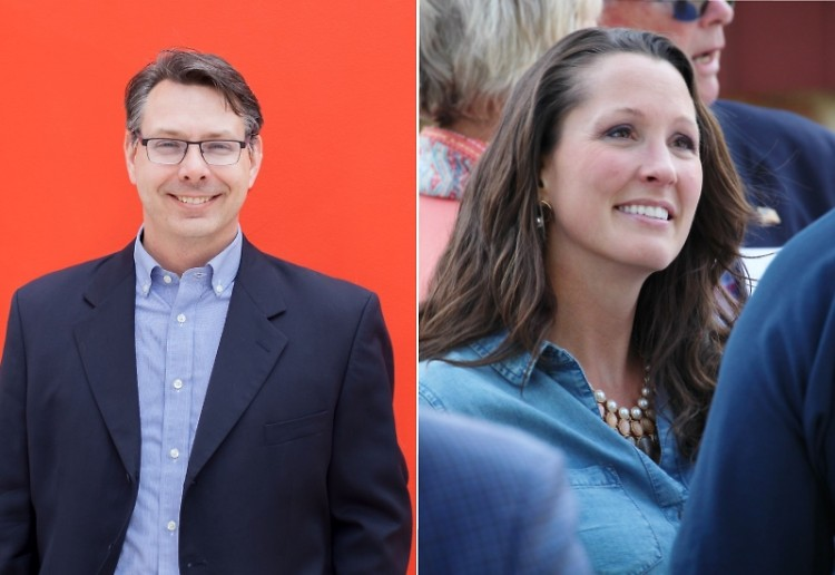 Kent County Clerk candidates Chris Reader (Democrat) and Lisa Posthumus Lyons (Republican)