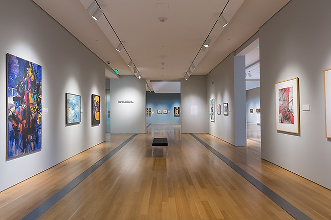 Installation view of Relevant: Abstraction from GRAM's Collection