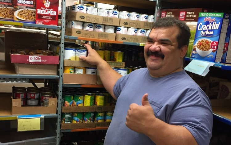 At Northwest Food Pantry, Roberto and others are as much volunteers as they are clients.