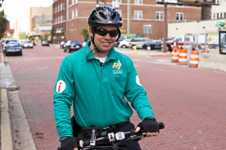 Bill Stapleton makes his bike rounds to the south end