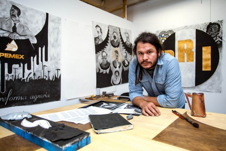 Salvador Jimenez in his studio.