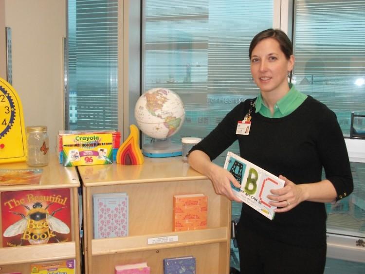 Teacher and Education Liaison Sarah Smith in her classroom at Helen DeVos Children's Hospital