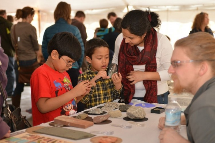 Attendees at the MSU's Science Festival at the Grand Rapids Public Museum