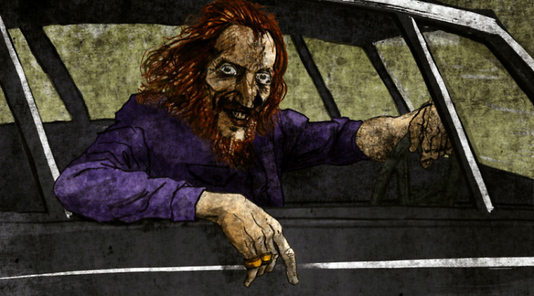 An animated Mr. Baker in his heyday