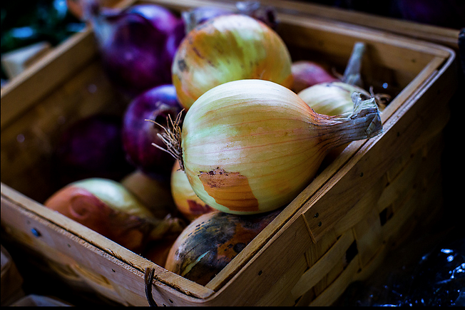 Summer onions are just beginning to make an appearance at the market.