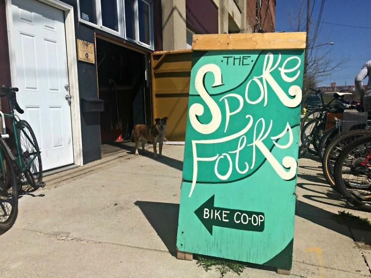 The Spoke Folks shop on Logan.