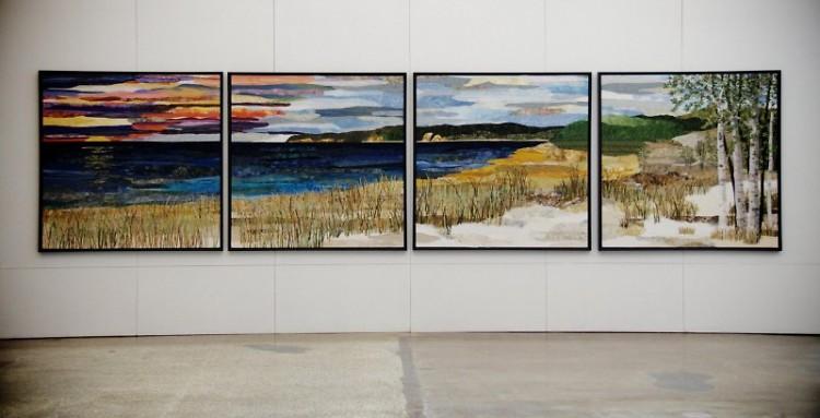 """Sleeping Bear Dune Lakeshore"" by Ann Loveless is on display at the HUB"