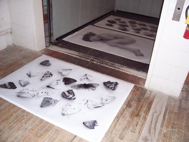 Marielis Seyler's work welcomes visitors to the gallery.