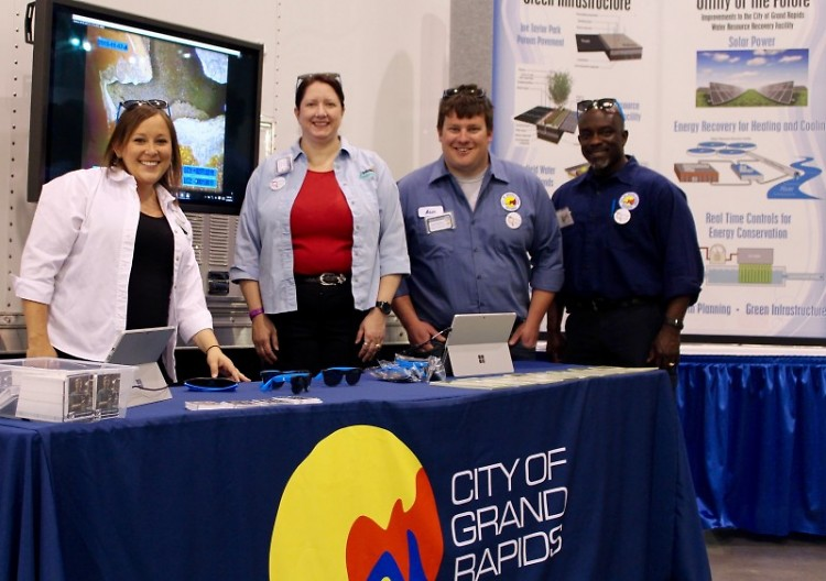 Just a few of the City of Grand Rapids staff at one our tables during MiCareerQuest.
