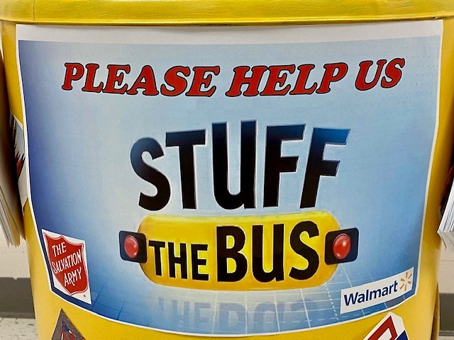 Stuff the bus event is on this coming weekend!