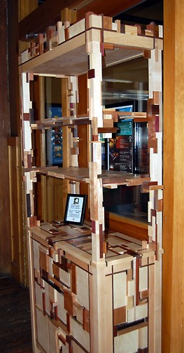 Accumulated Wood Cabinet