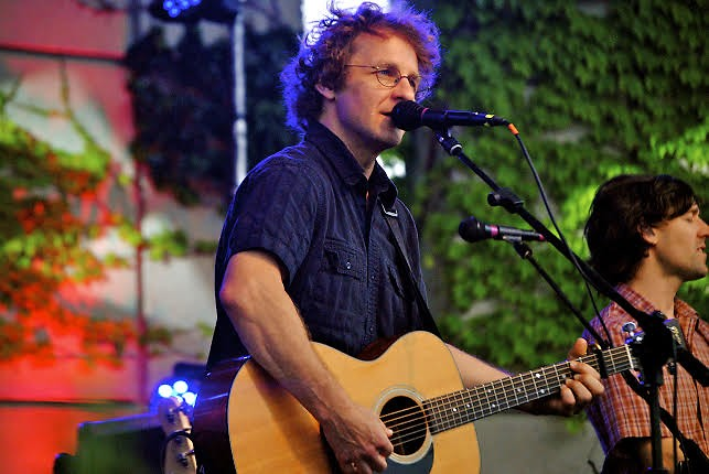 Todd Sheaffer performs with Railroad Earth