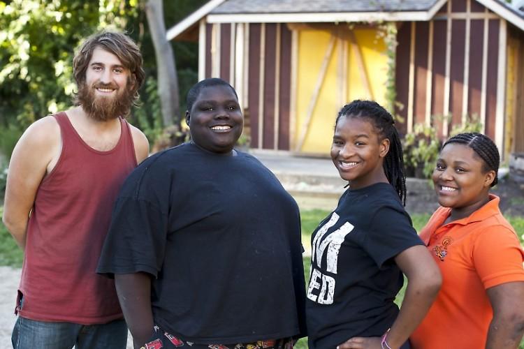Matthew Fowler and neighborhood kids