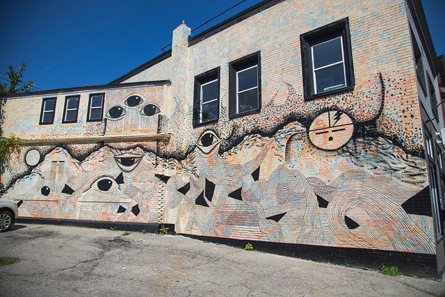 Colby Roanhorse's mural in Creston