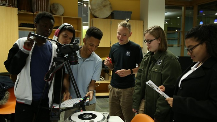 """Rhythm & Race: A History of African American Music in Grand Rapids"" student-production team"