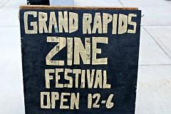 Grand Rapids Zine Festival sign